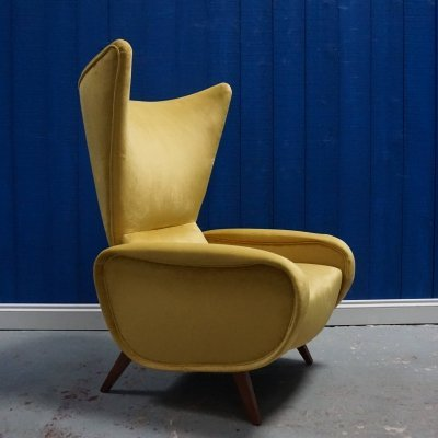 Italian Mid Century Lounge Chair, 1960s