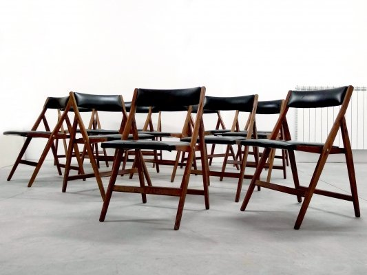12 'Eden' chairs by Gio Ponti for Reguitti (with Gio Ponti Archives Expertise)
