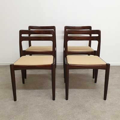 Set of 4 Pallisander dining chairs by W.H. Klein for Bramin