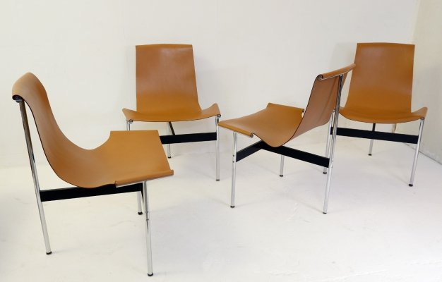 Set of 4 'T' Chairs by Douglas Kelly, Ross Littell & William Katavolos, 1967