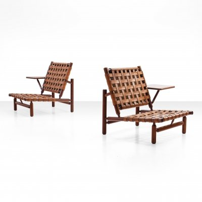 Pair of chairs by Ilmari Tapiovaara for Paolo Arnaboldi, Italy 1957