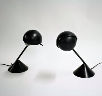 Pair of vintage Italian table lamps, 1980s