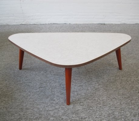 Vintage triangle table with round legs, 1960s