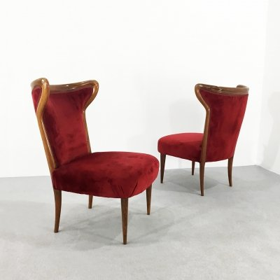 Pair of armchairs by Osvaldo Borsani, 1940s