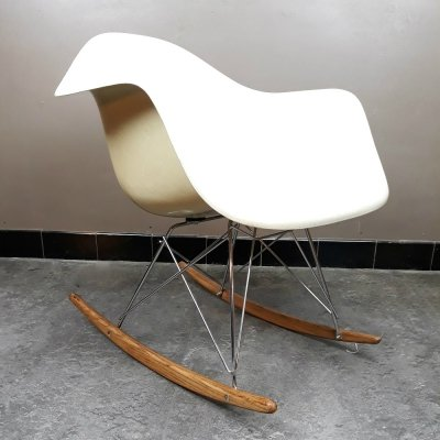 Fibreglass RAR rocking chair by Eames for Vitra, 1970s