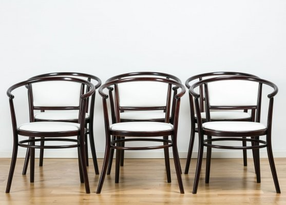 Set of 6 bentwood chairs from TON, 1970's