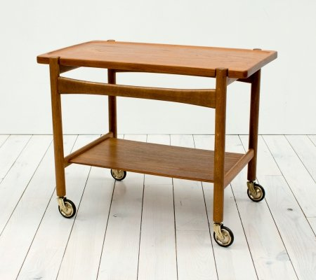 Danish Oak & Teak Trolley/Bar Cart by Hans J. Wegner for Andreas Tuck