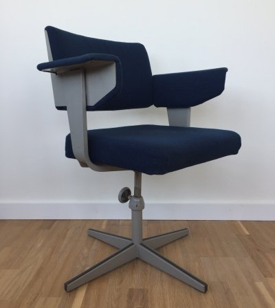 Dutch industrial design swivel desk chair by Friso Kramer, 1970s