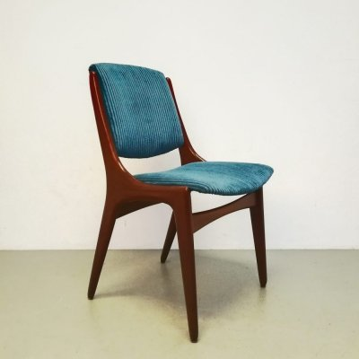 Set of 4 Mahjongg dining chairs, 1960s