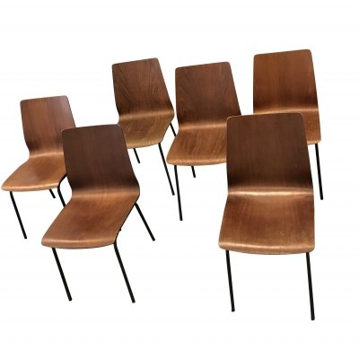 6 x Euroika dining chair by Friso Kramer for Auping, 1960s