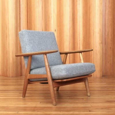 Hans Wegner oak 'cigar' chair model GE240 by Getama Denmark