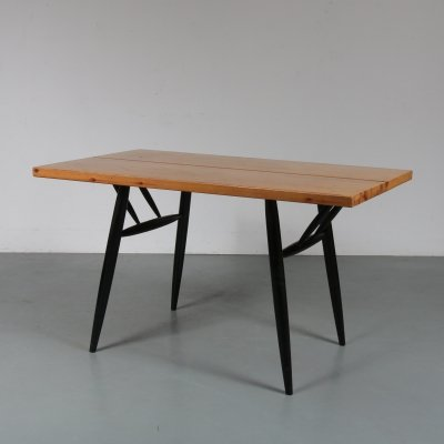 Small pine dining table by Ilmari Tapiovaara, 1950s