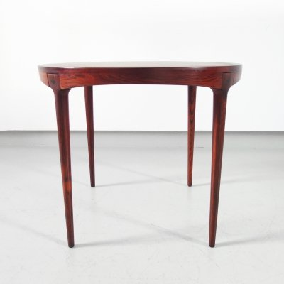Scandinavian Side Table in Rosewood by Haug Snekkeri for Bruksbo Norway, 1960s