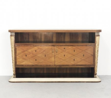 Console in carved wood by Osvaldo Borsani, 1940s
