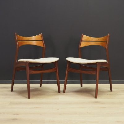 Pair of Erik Buch dining chairs, 1970s