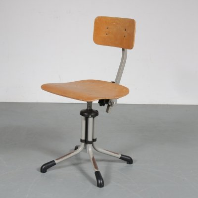 Working chair by De Wit, Netherlands 1950s