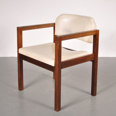 Wengé easy chair, Netherlands 1960s