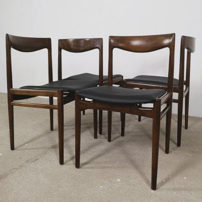 4x Lubke Rosewood dining chairs