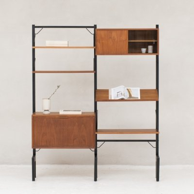 2-piece 'Royal System' wall unit by Poul Cadovius, Denmark 1950