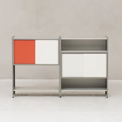 Colorful modular 'Model 5600' storage unit by Andre Cordemeijer for Gispen