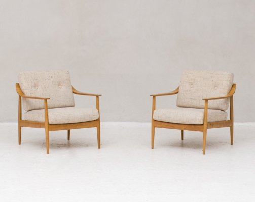 Set of two Antimott easy chairs by Walter Knoll, Germany 1950s