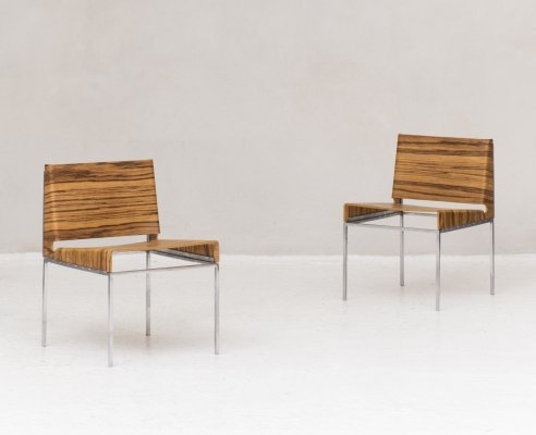 Set of 2 side chairs, Switzerland 1970s
