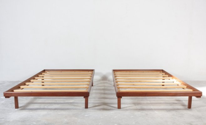 Pair of teak daybeds, 1950s