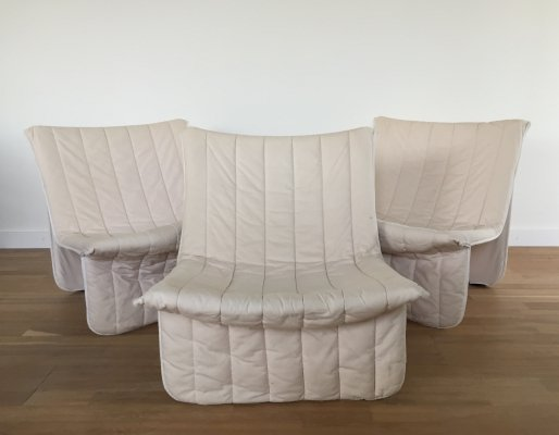 3 x Ribbon lounge chair by Niels Sylvester Bendtsen for Kebe Mobler Aps, 1970s
