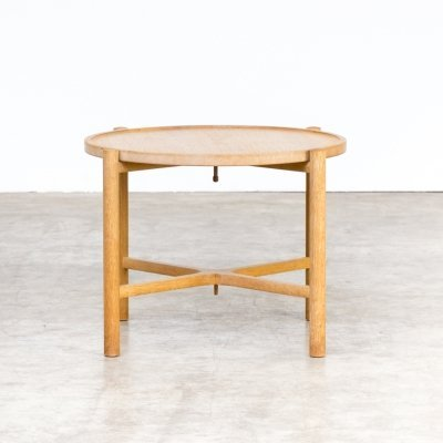 Hans Wegner 'AT35' circular folding table for Andreas Tuck, 1960s