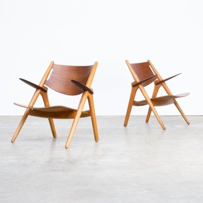 Pair of Hans Wegner 'CH28T' chair for Carl Hansen & Son, 1950s