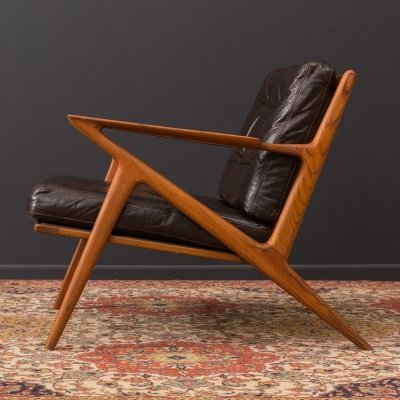 Z Lounge Chair by Poul Jensen for Selig, 1950s