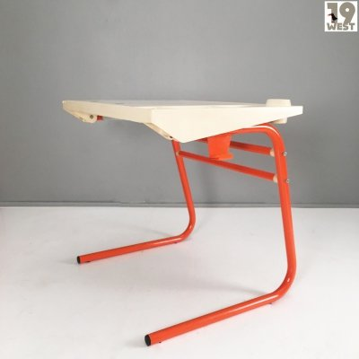 Space age writing desk or drawing table from the 1970's