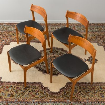 Danish dining chairs by Eric Buch for O.D.Møbler, 1950s