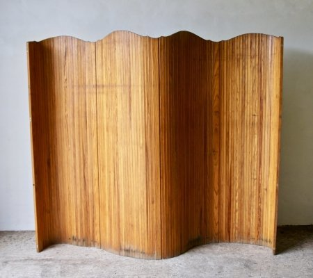 Early 20th Century Art Deco Tambour Screen Room Divider