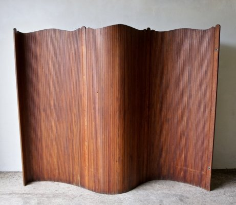 Art Deco French Tambour Screen Room Divider, 1940s