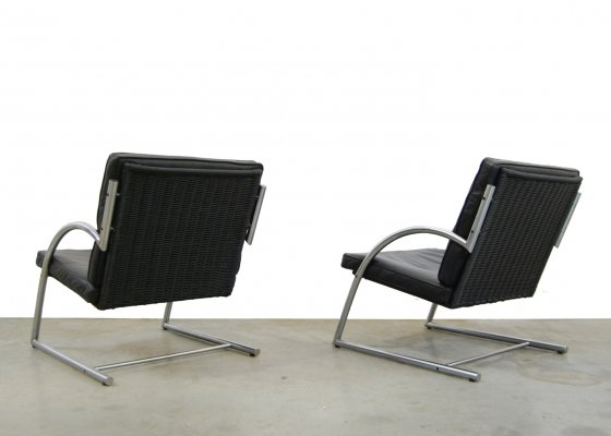 Vintage design arm chairs by Gerard van den Berg for Rohe Noordwolde, 1980s