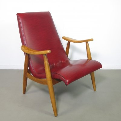 Birchwood lounge chair by Louis van Teeffelen, 1960's