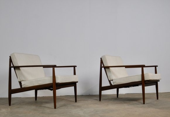 Pair of Armchairs by Grete Jalk, 1960s