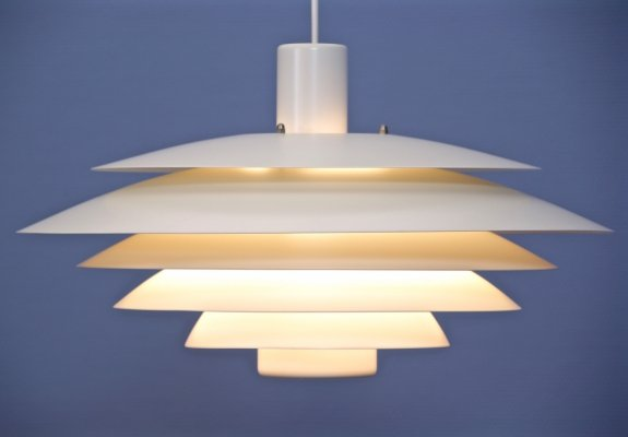 XXL Danish pendant in off-white by Form Light, 1970s