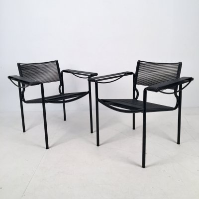 Pair of Spaghetti 109 Armchairs by Giandomenico Belotti for Alias, Italy c.1980