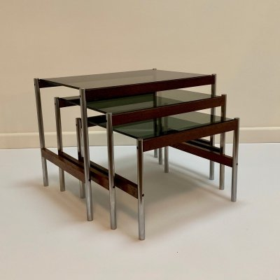 Set of 3 Sven Ivar Dysthe nesting tables, 1960s