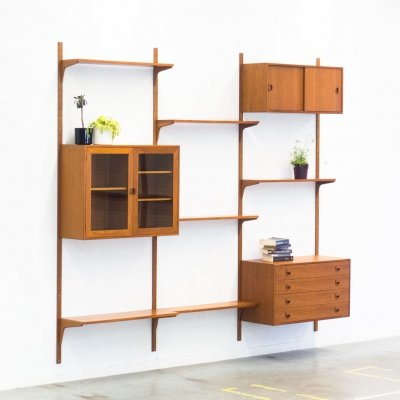 Wall unit by Rud Thygesen & Johnny Sorensen for Hansen & Guldborg, 1960s