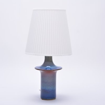 Tall Blue Vintage Ceramic Table Lamp by Soholm