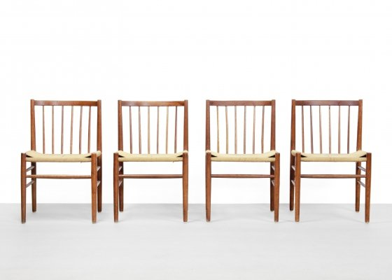 Set of 4 Model J80 dining chairs by Jørgen Baekmark for FDB Møbler, 1960s