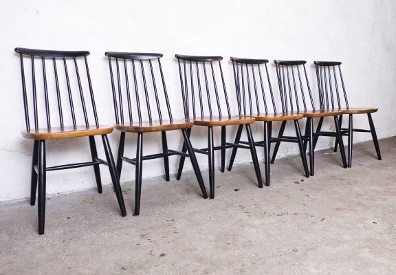 Set of 6 Scandinavian Dining Chairs, 1960s