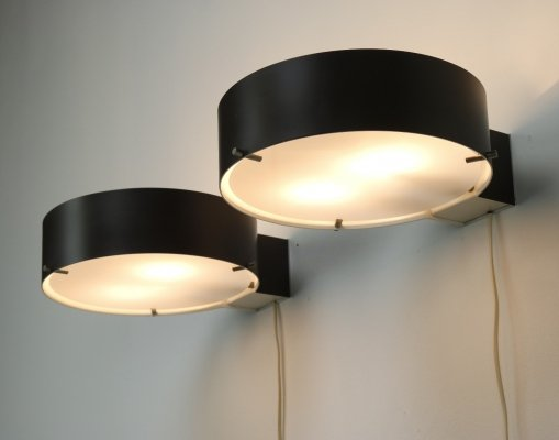 Pair of wall lamps by Bruno Gatta for Stilnovo, 1950s