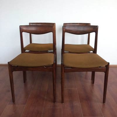 1960's Danish design rosewood dining chairs by Lübke