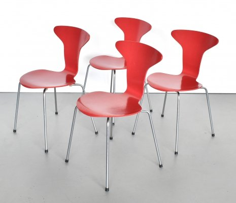 Set of 4 Mosquito 3105 dining chairs by Arne Jacobsen for Fritz Hansen, 1960s