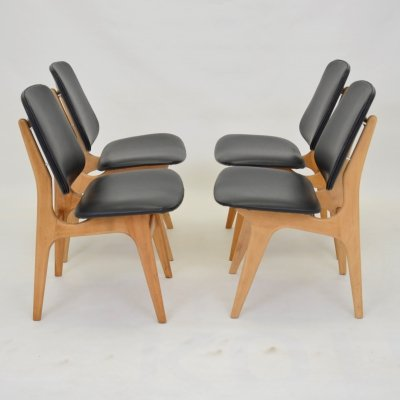Set of 4 mid-century dining chairs, 1960s