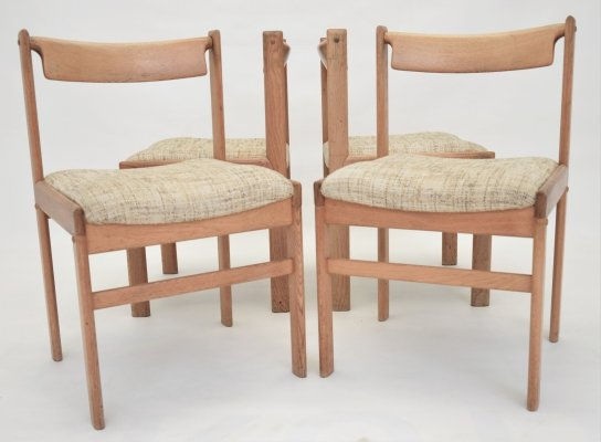 Set of 4 Danish dining chairs by Bramin, 1970s